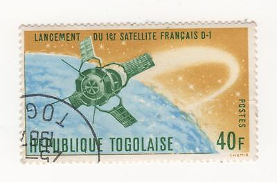 """1967 TOGO ( former French Colony West Africa ) 40f Satellite """" D-1"""" SG#513 CTO"""
