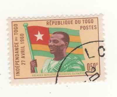 1960 TOGO ( former French Colony West Africa ) 50c. ( O.50f ) INDEPENDENCE  CTO