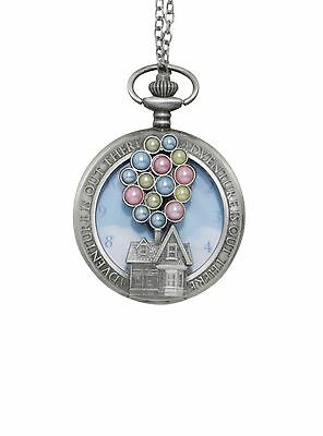 Disney Up Balloons Pocket Watch Necklace Long Necklace Authentic Pixar NWT