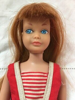 Vintage TItian RED Hair Straight Leg SKIPPER Doll With Swimsuit