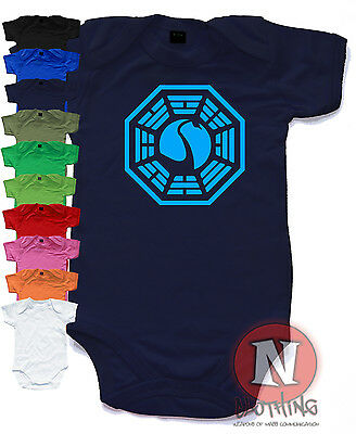 Dharma initiative cute Babygrow baby suit gift vest Lost swan logo