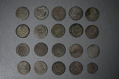 LOT of 20pcs SILVER OTTOMAN TURKISH TURKEY ISLAMIC COINS RARE 27gram