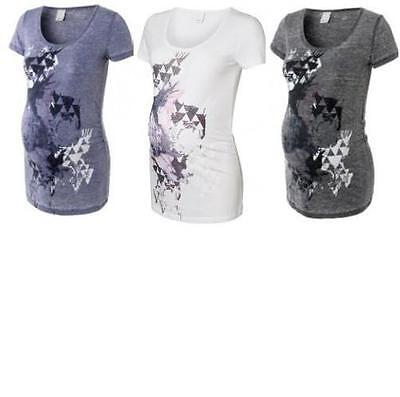 Maternity Printed Pregnancy Long T Shirt, Choice of Colours