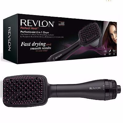Revlon Perfectionist 2-in-1 Ionising Paddle Brush Hair Dryer Womens RVHA6475UK