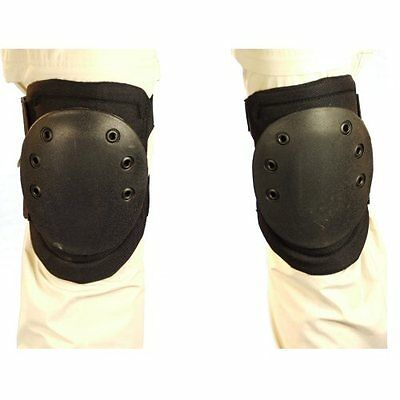 New Black Enclosed Foam Knee Pads with Plastic Kneecap