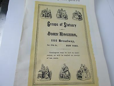 Vintage 1939 calendar Groups of Statuary by John Rogers, 1155 Broadway New York