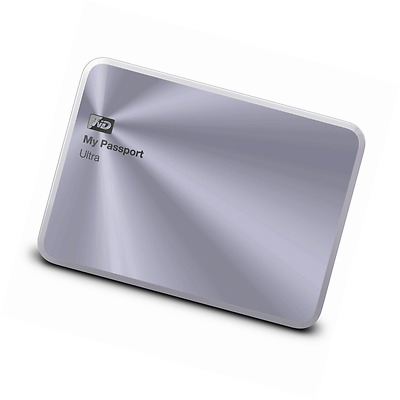 WD 2TB Silver My Passport Ultra Metal Edition Portable External Hard Drive - U