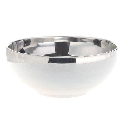 "Family Tableware 4.6"" Dia Round Shaped Silver Stainless Steel Rice Bowl R4K8"