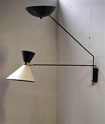 applique 1950 lampe light mid century 50's vintage
