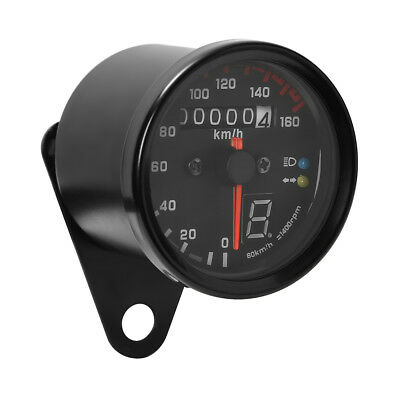 Motorcycle KMH Gauge Odometer Speedometer Speedo Meter LED For Honda Cafe Racer