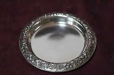 S Kirk & Son Repousse Sterling Silver .925 Coaster Dish ,  # 24 , 2.0 oz