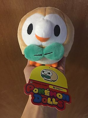 RARE Pokemon Center Pokedoll Rowlet Plush Toy Authentic Official Stuffed Japan