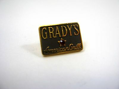 Vintage Collectible Pin: Grady's American Grill Restaurant Red Jewel 24KGP