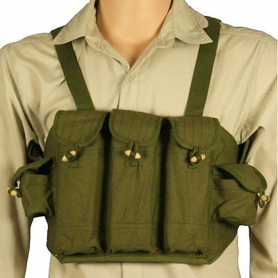 New Olive Chicom Chinese Vietcong Chest Rig Webbing