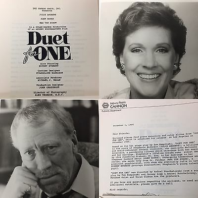 DUET FOR ONE Julie Andrews/Max Von Sydow Photo Press Kit 1986 Cannon Films