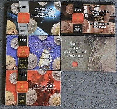 Lot of 5 Canada 1998-2003