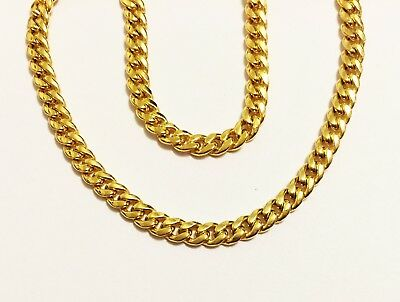 """18k yellow gold(3mm)hollow Curb chain(16""""/18""""/20""""/22""""/24"""")"""