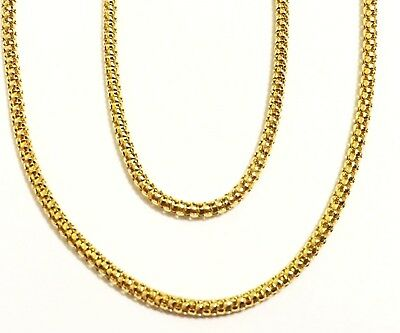 """18k solid yellow gold(2mm)focal design chain(16""""/18""""/20"""")"""