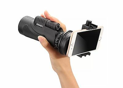 12x50 Portable Hiking Monocular Spotting Scope Telescope for iphone Cell Phone