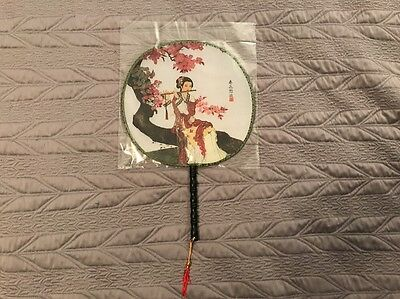 Oriental Asian Decorative Circle Fan