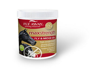 Fly Away Max Strength Fly & Midge Gel - 500ml - Fly, Louse & Insect Control