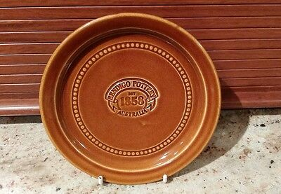 BENDIGO POTTERY ANNIVERSARY PLATE STAMPED BH bruce heggie COLLECTABLE