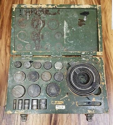 GMP GENERAL MACHINE PRODUCTS Co Bits Rings Punches Cable Lasher Vintage tool SET