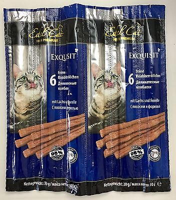 Edel Cat Natural Cat Sticks with Salmon & Trout X 6 Sticks - 30 g' Germany