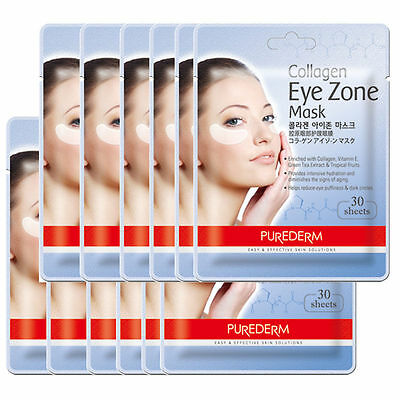 Purederm Korea Collagen Eye Zone Mask Patch Wrinkle Care Puffiness Pad 30 Sheets
