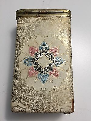 Vintage Cloth Ornate Cigarette Box /Cigarette Case 1940/60s?
