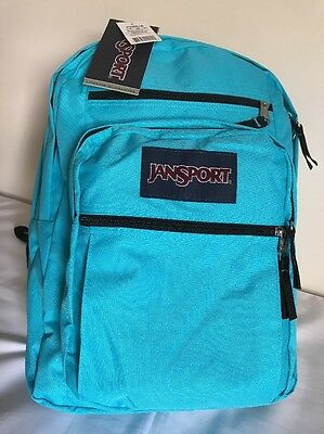 Authentic JanSport Big Student Backpack NWT `Mammoth Blue` Book Bag High Quality