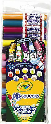Crayola Pip-Squeaks Wacky Tips Markers-Pack of 16