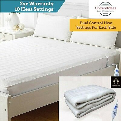 Ramesses Washable Fitted Electric Heated Blanket Underlay Auto Shut Off Protect