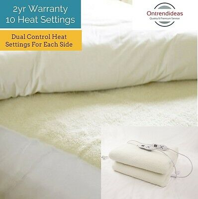 Ramesses Heated Electric Fitted Fleece Underlay   Machine Washable   Thermal