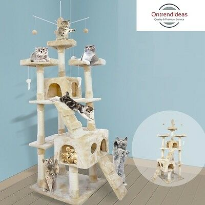 1.1m - 2m Multi Level Cat Scratching Trees | Scratching Post | Cat Furniture