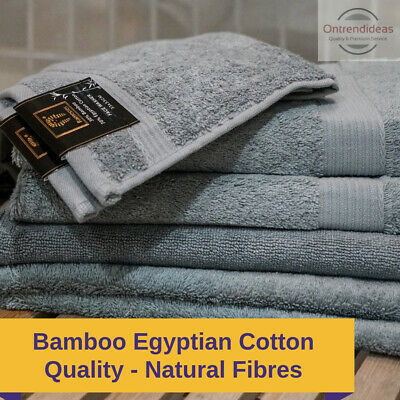 Ramesses Bamboo Cotton Towel Set | 7 Or 14pc Set | Luxury Eco Bamboo Towels