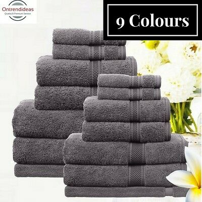 Ramesses 100% Egyptian Cotton Towel Set | 7 Or 14pc Set | Luxury Egyptian Towels