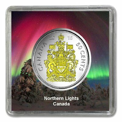 PREMIERE 2016 Canadian 50 Cents  Plated Rhodium and Gilded with Selective Gold
