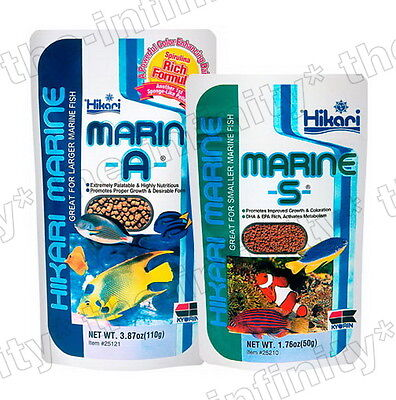 Hikari Marine S A Smaller Larger Fish Food Grow Color Aquarium Pellets Feeding
