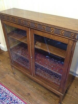 Beautiful Arts & Crafts Glazed Oak Bookcase - Lovely Original Condition
