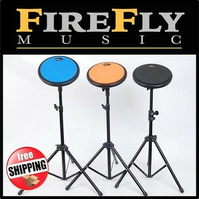 "8"" PDH Drum Practice Pad Set. Choose Blue Orange or Black with Stand & Carry Bag"
