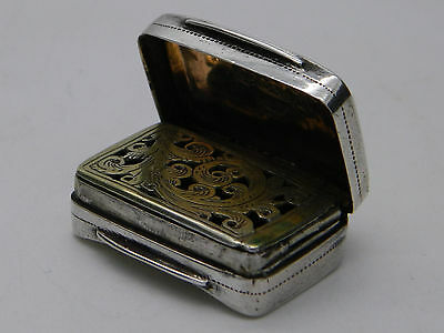 George III Solid Silver Cocks & Bettridge Suitcase Vinaigrette 1811 Birmingham