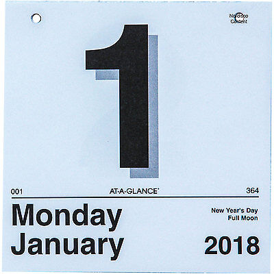 2018 At-A-Glance K1-50 Today Is Tear Off Wall Calendar Refill, 6 x 6""
