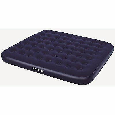 Bestway Comfort Quest Flocked Air Bed - 80 x 72 x 8.5 Inches, King Size, Blue