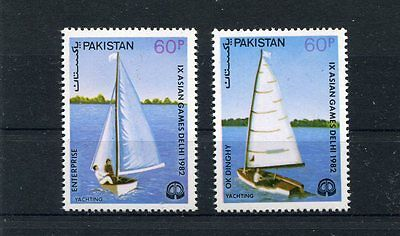 Pakistan 1982 593-94 Regate MHN