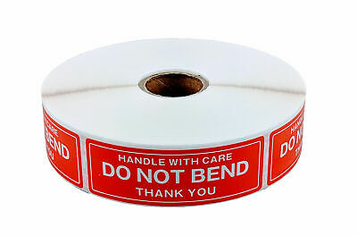 1 Roll 1 x 3 DO NOT BEND HANDLE WITH CARE Stickers (1000 Per Roll)