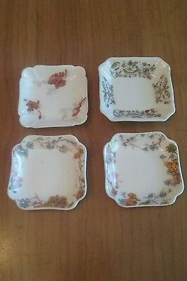 Collection of 4 Butter Pat Dishes