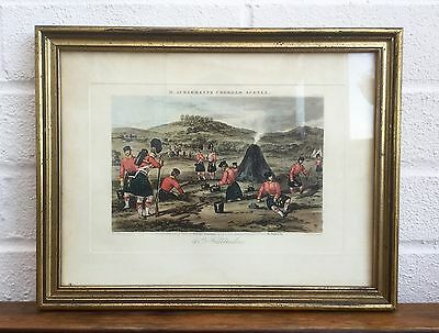 RUDOLPH ACKERMANNS CHOBHAM SCENES -93rd HIGHLANDERS- MILITARY PICTURE PLATE 4