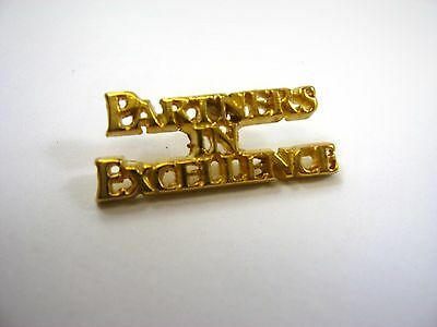 Vintage Collectible Pin: Partners in Excellence Beautiful Gold Tone Design