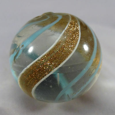 """Marbles:  Lutz Banded. 7/8"""". M- 9.1 (BB 17.171)"""